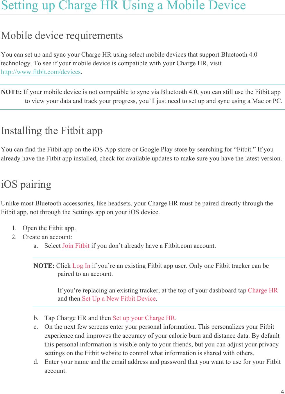 Fitbit FB405 Wearable Fitness Tracker User Manual