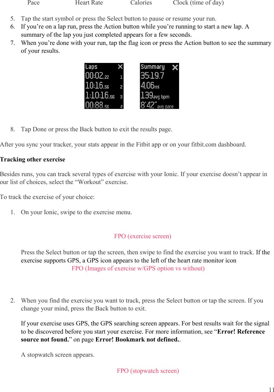 Fitbit FB503 Smart Watch User Manual Product Manual Draft 05012017