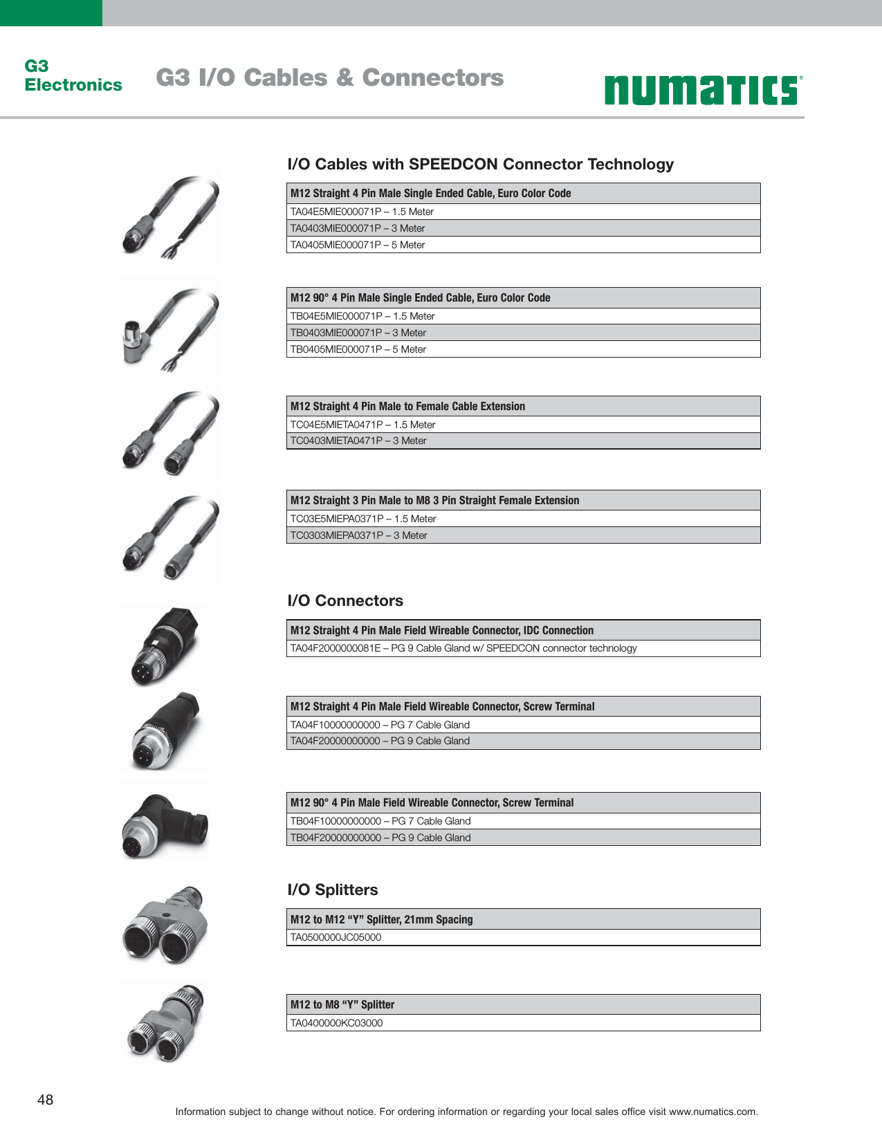 Flow Numatics Cables 1505485208 G3 User Manual M8 3 Pin Wiring Diagram Page 9 Of 12