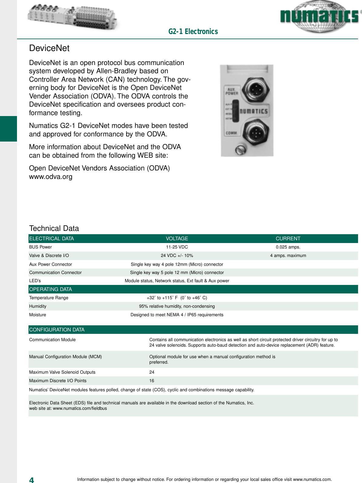 Flow Numatics G2 2 Fieldbus 1505490683 User Manual