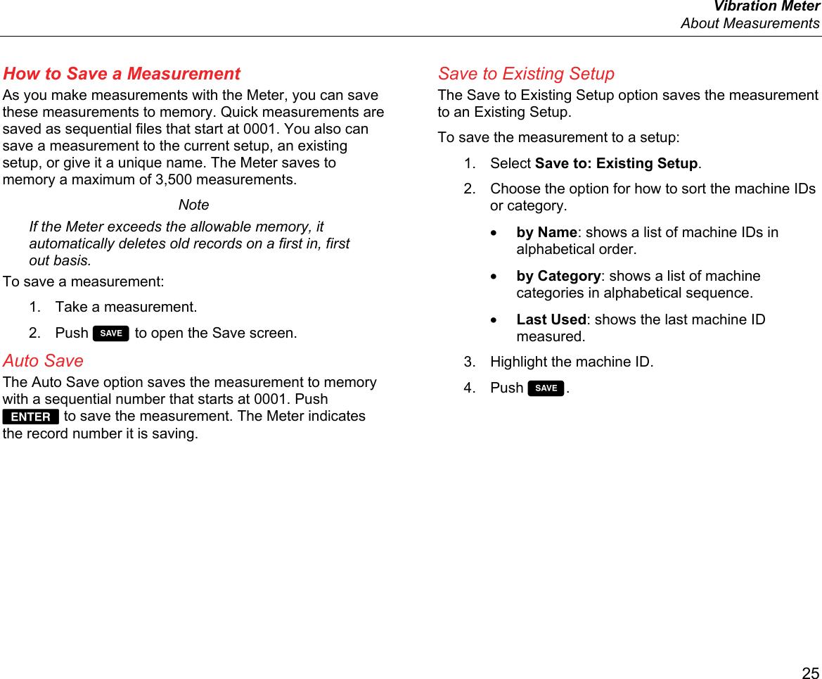 Fluke Electronics 805fc Vibration Meter User Manual