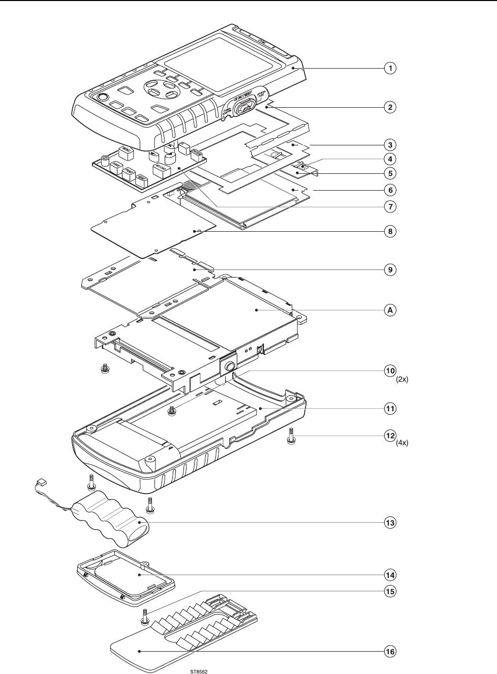 Fluke 43b Users Manual 0master 97 Spider Block Diagram Hpdeskjet300400 List Of Replaceable Parts
