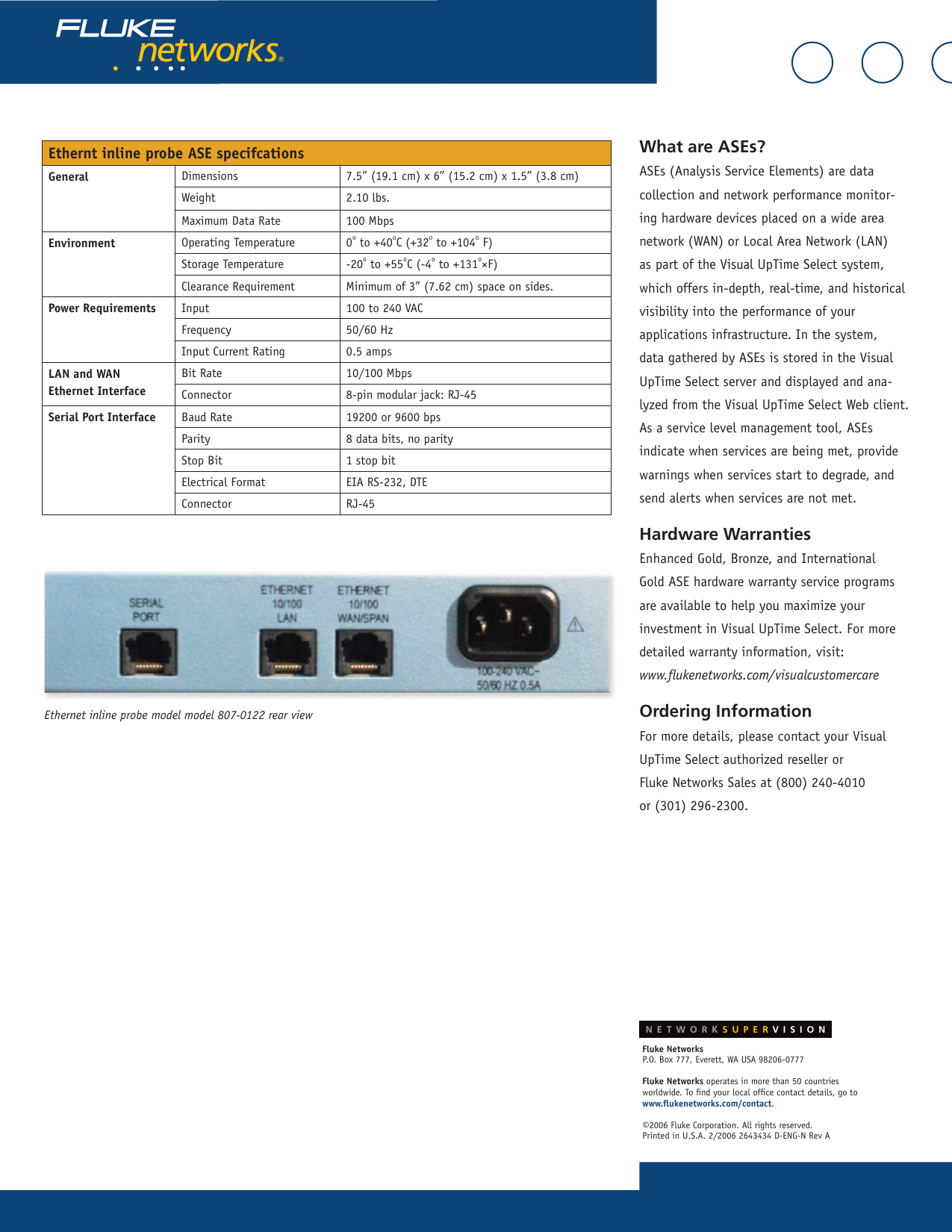 Fluke 807 0115 Users Manual Datasheet_4xT1_E1