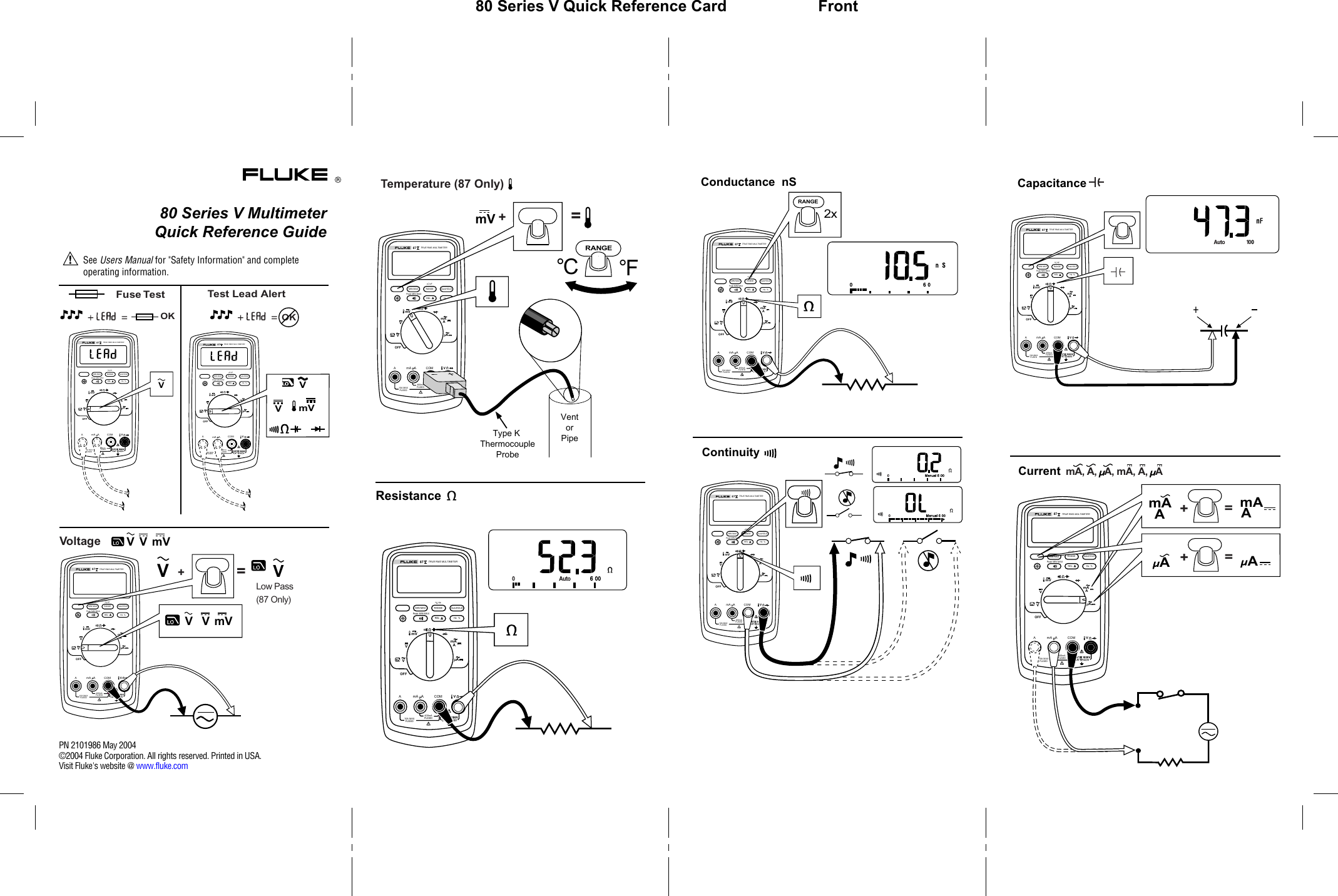 Fluke 87V Industrial Users Manual M