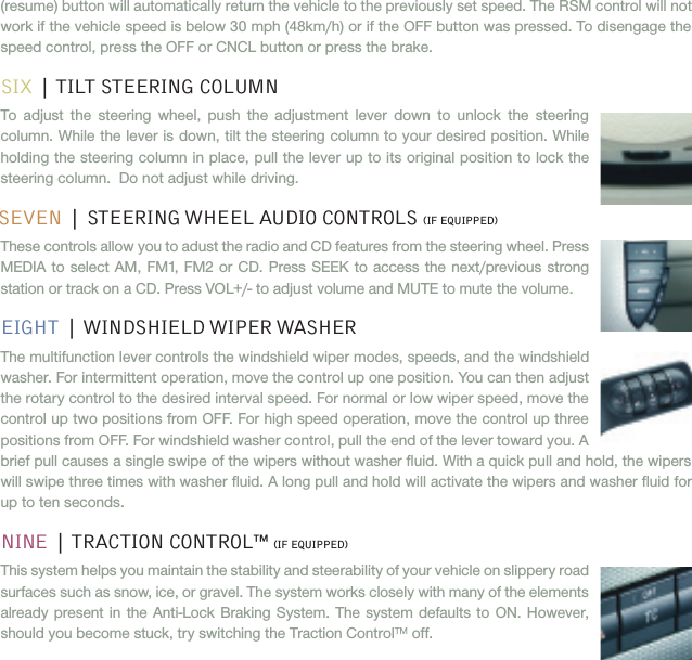 Ford 2005 Freestyle Quick Reference Guide