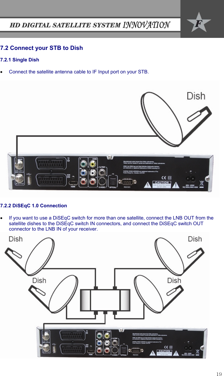 Fortec Satellite Tv System Innovation Users Manual In