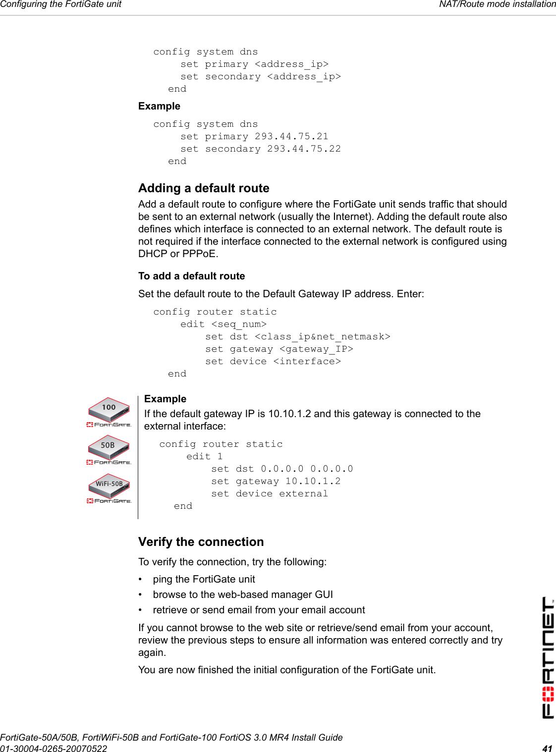 fortinet 3045 fortiwifi 50b user manual part two rh usermanual wiki  fortinet 50e manual