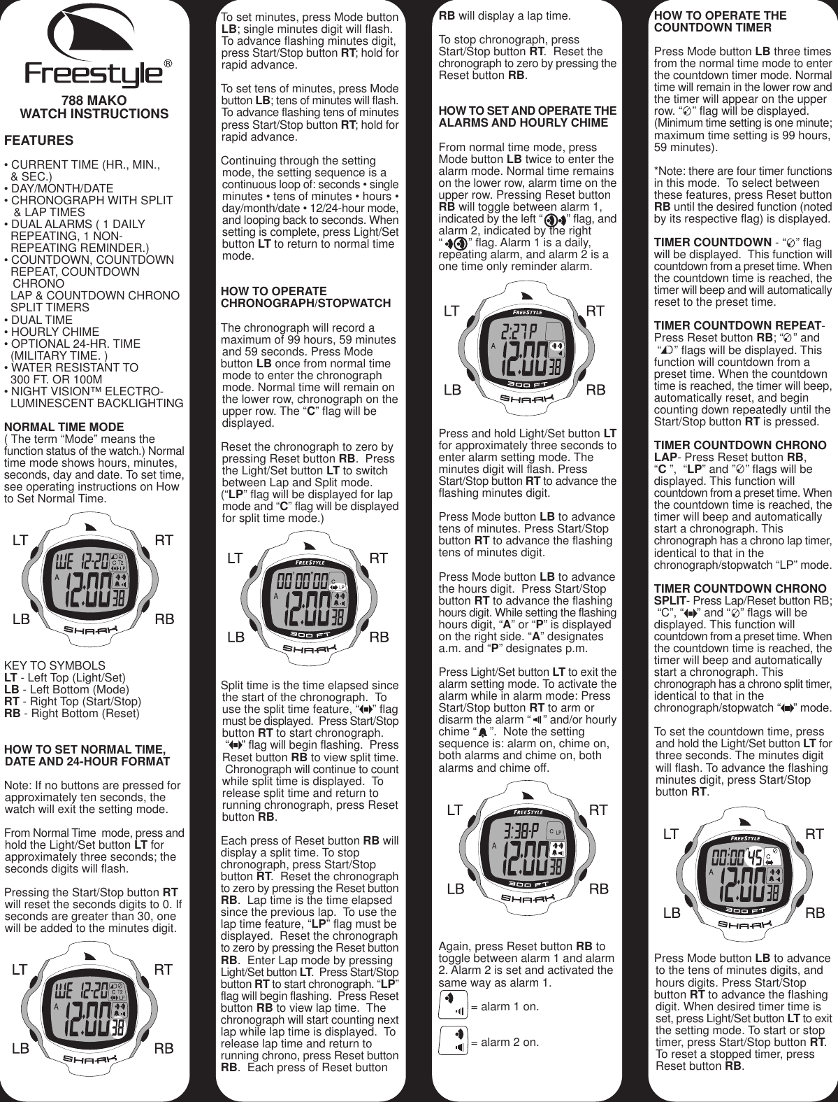 Freestyle Classic Shark Watch Manual Manual Guide