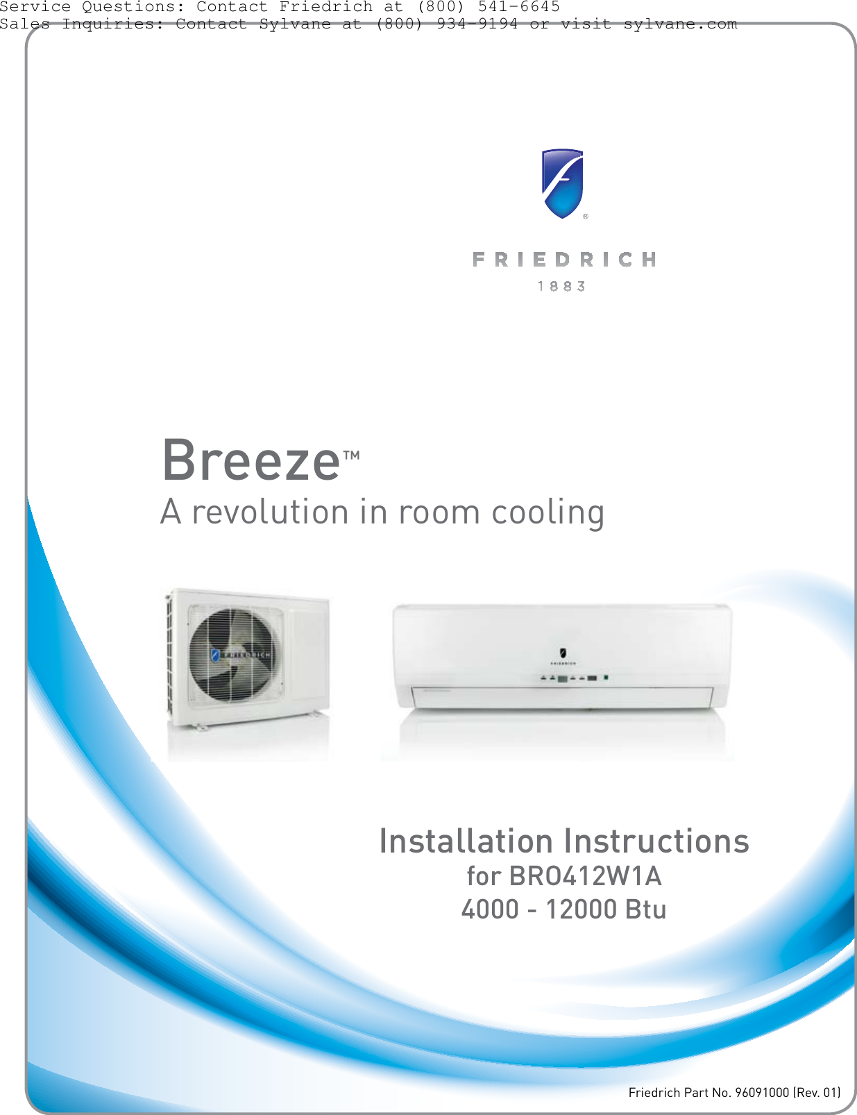 Friedrich Air Conditioner Bro412w1a Users Manual Breeze Br0412w1a Wiring Diagram Owners Sylvane