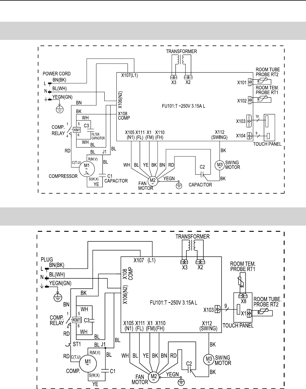 Friedrich Air Conditioner Cp14n10 Users Manual Wiring Diagrams 6