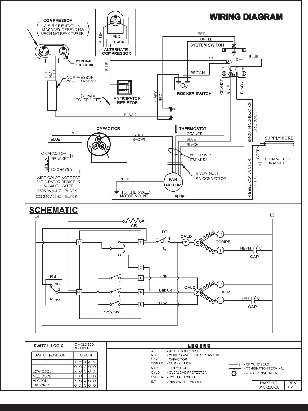 Friedrich Air Conditioner Kl25j30 Users Manual Rac K98 Wiring Diagrams Page 19