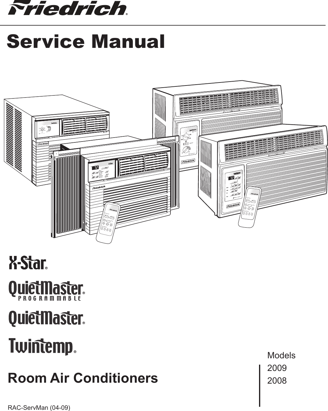 Friedrich Quietmaster 2009 Users Manual P2kpd 1 05 Wiring Diagrams