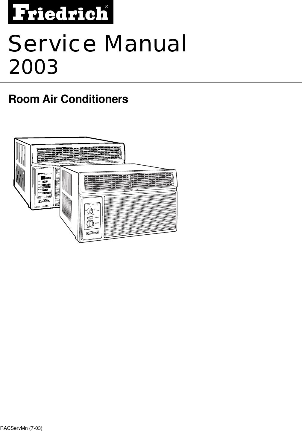 Friedrich Racservmn Users Manual Racservmn7 17 03 Newestp65 Wiring Diagrams