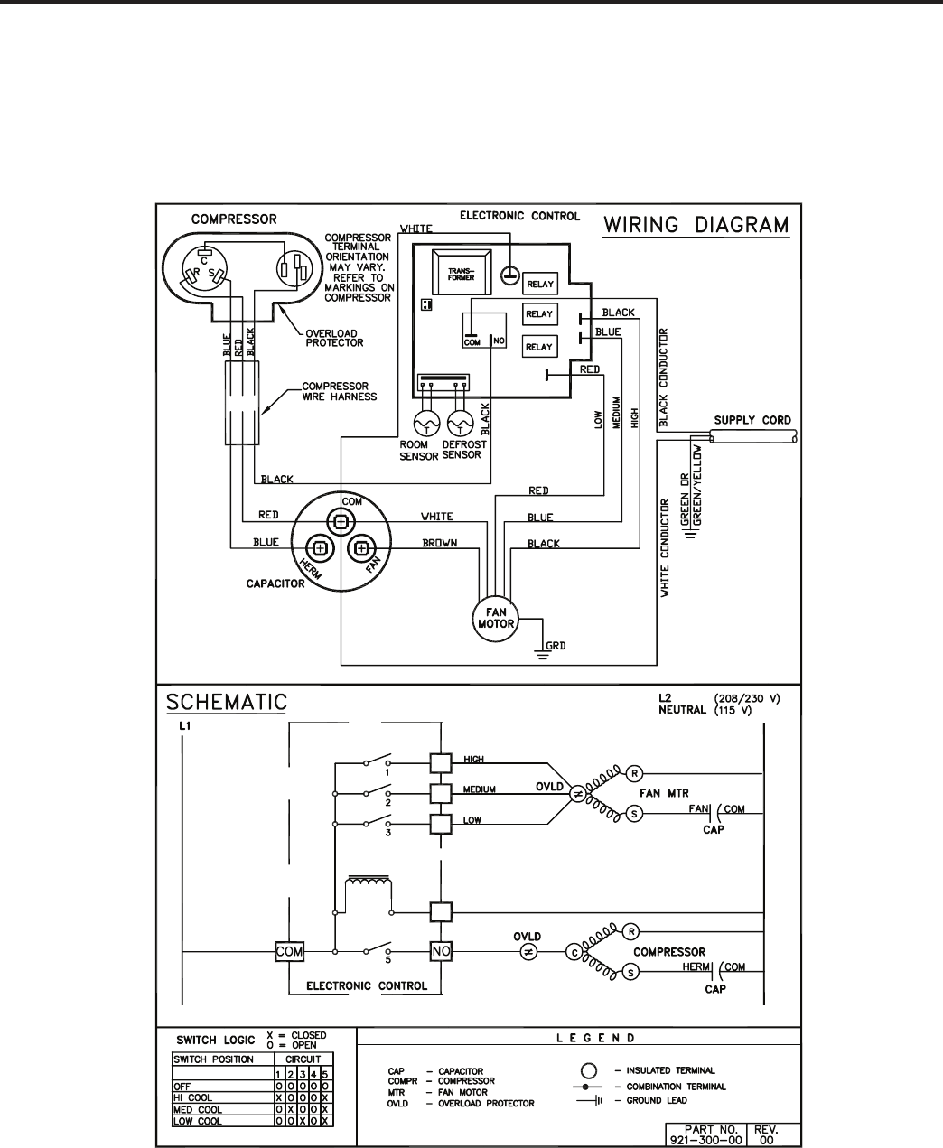 Friedrich Wallmaster Ws10b10 Users Manual P2kpd 1 05 Wiring Diagrams Diagram