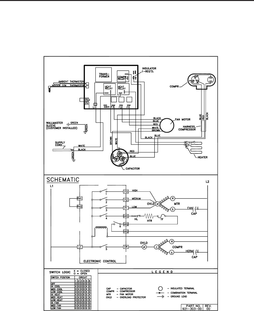 Friedrich Wallmaster Ws10b10 Users Manual P2kpd 1 05 Window Unit Wiring Diagram