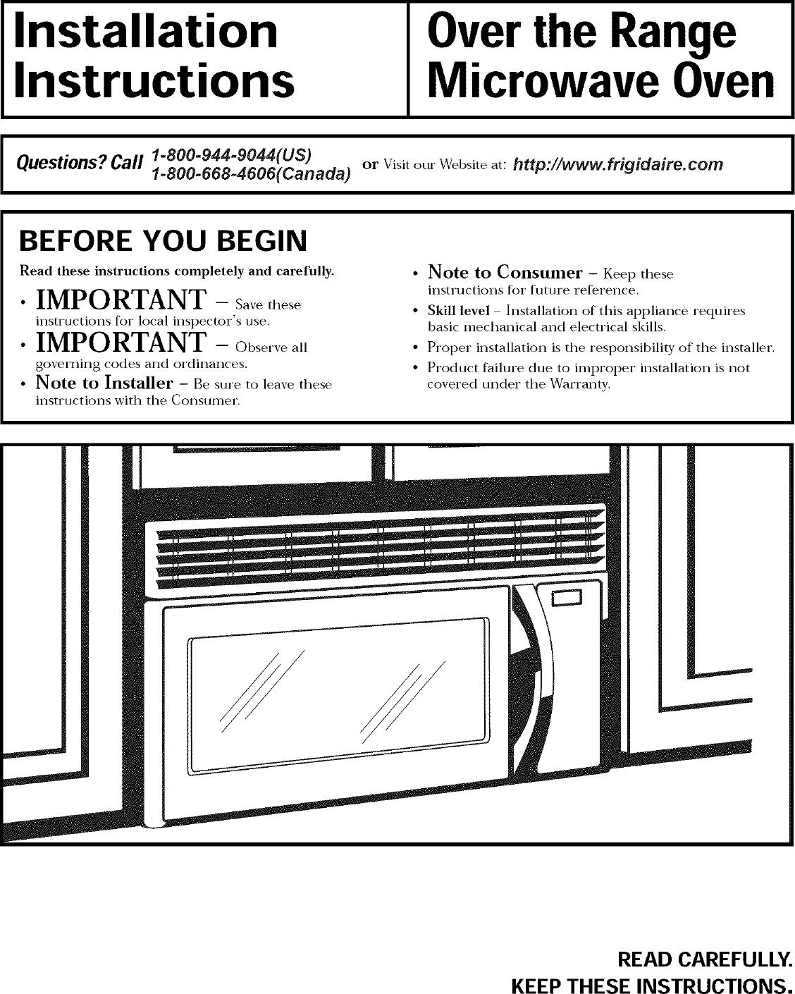Frigidaire Cfmv157gba User Manual