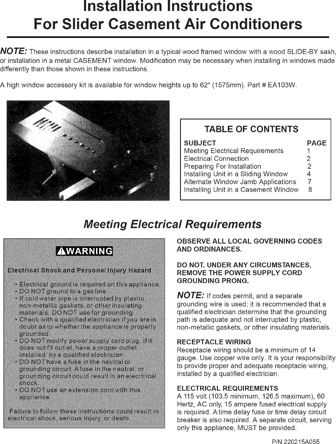 Frigidaire Fak085q7v2 User Manual A C Manuals And Guides L0604045 Timedelaycircuit