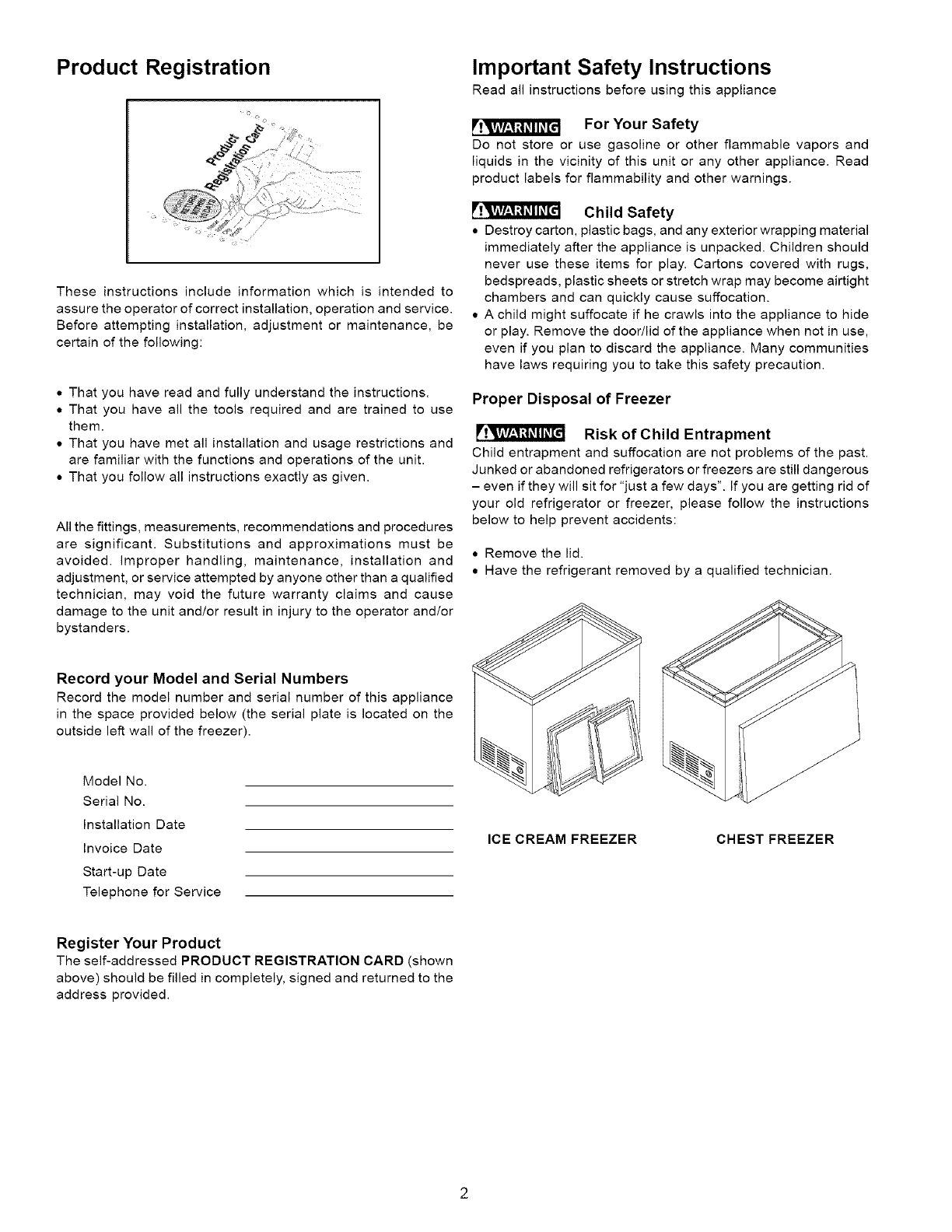 Frigidaire Fcc2071fw2 User Manual Freezer Manuals And Guides L0610623 Chest Wiring Diagram