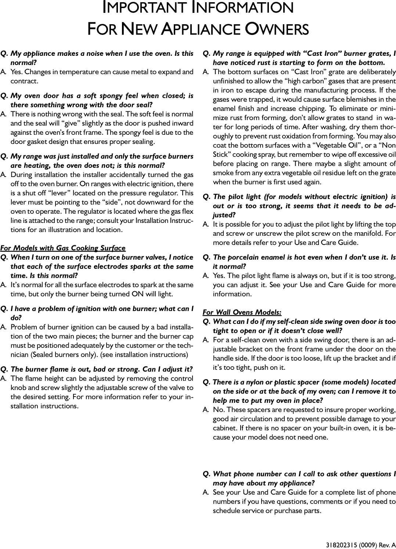 Viking Range Corp Dual Fuel Range Parts Manual Guide