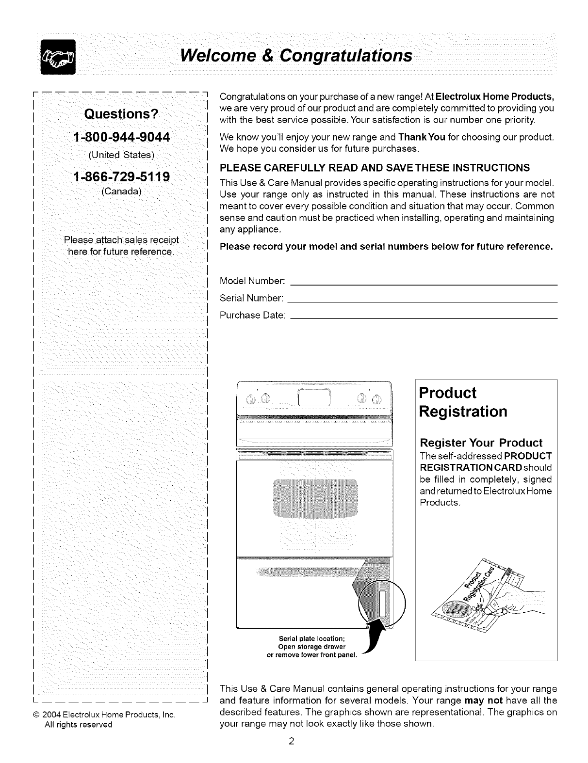 Frigidaire FEF326AUJ User Manual ELECTRIC RANGE Manuals And