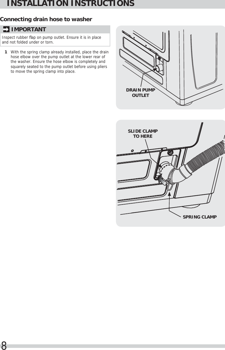 Frigidaire Fftw4120sw Washer Inst A07504201 User Manual Manuals And Schematic Page 8 Of 10