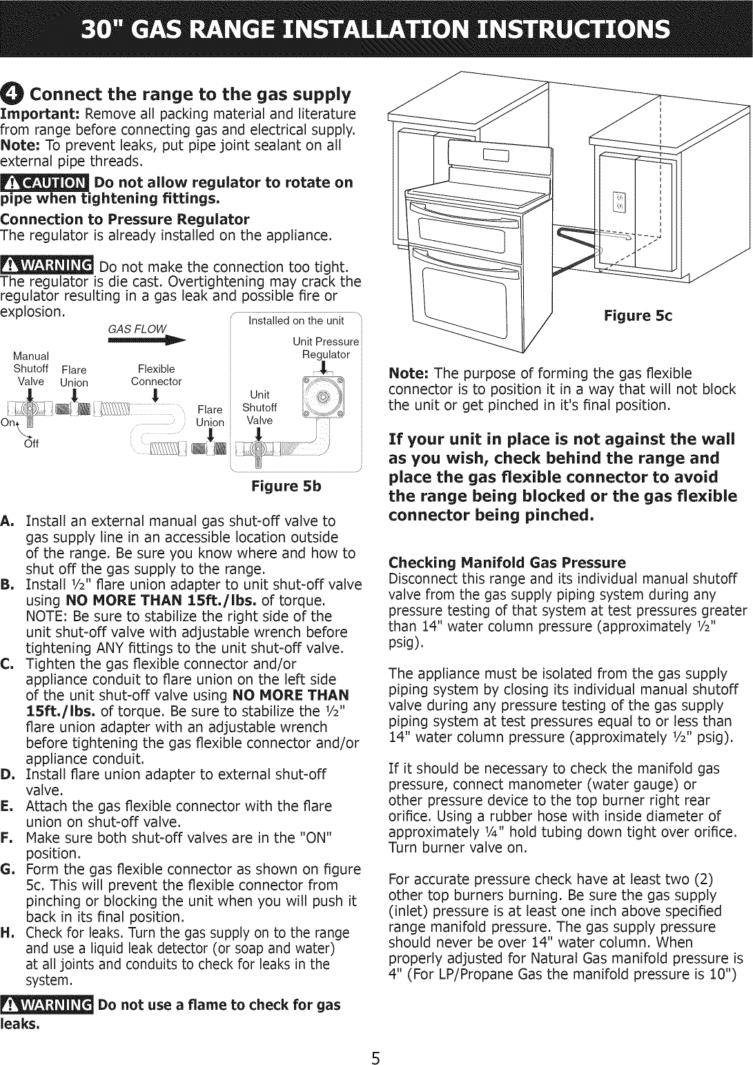Frigidaire Fggf304dlb1 User Manual Gas Range Manuals And Guides 1012384l Propane Electric Refrigerator Wiring Schematic Page 5 Of 12