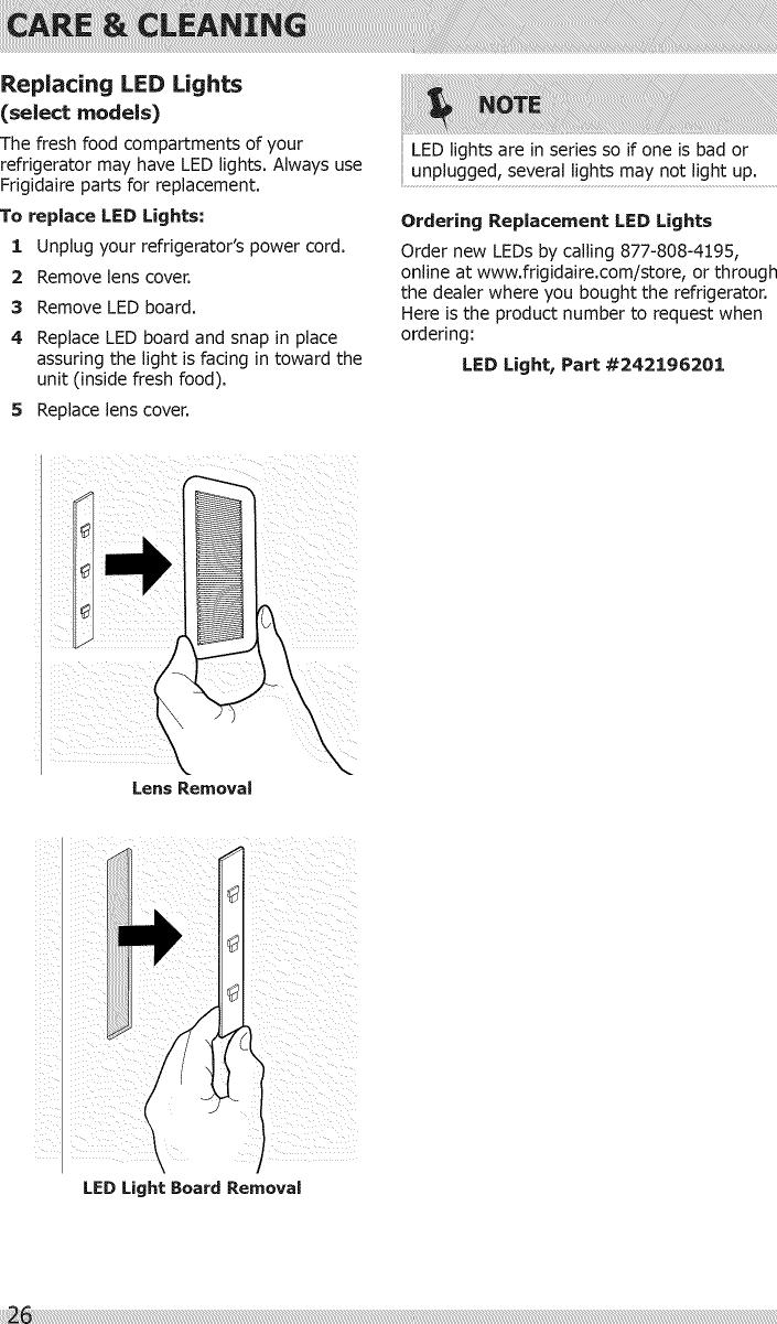 Frigidaire FGHC2331PFAA User Manual REFRIGERATOR Manuals And