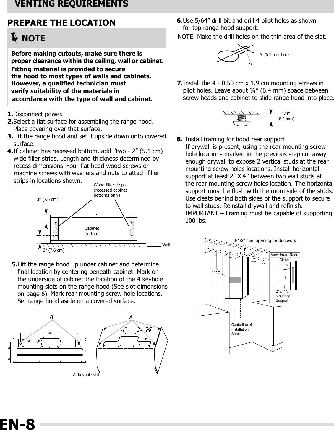 Frigidaire FHWC3650RSB User Manual RANGE HOOD Manuals And