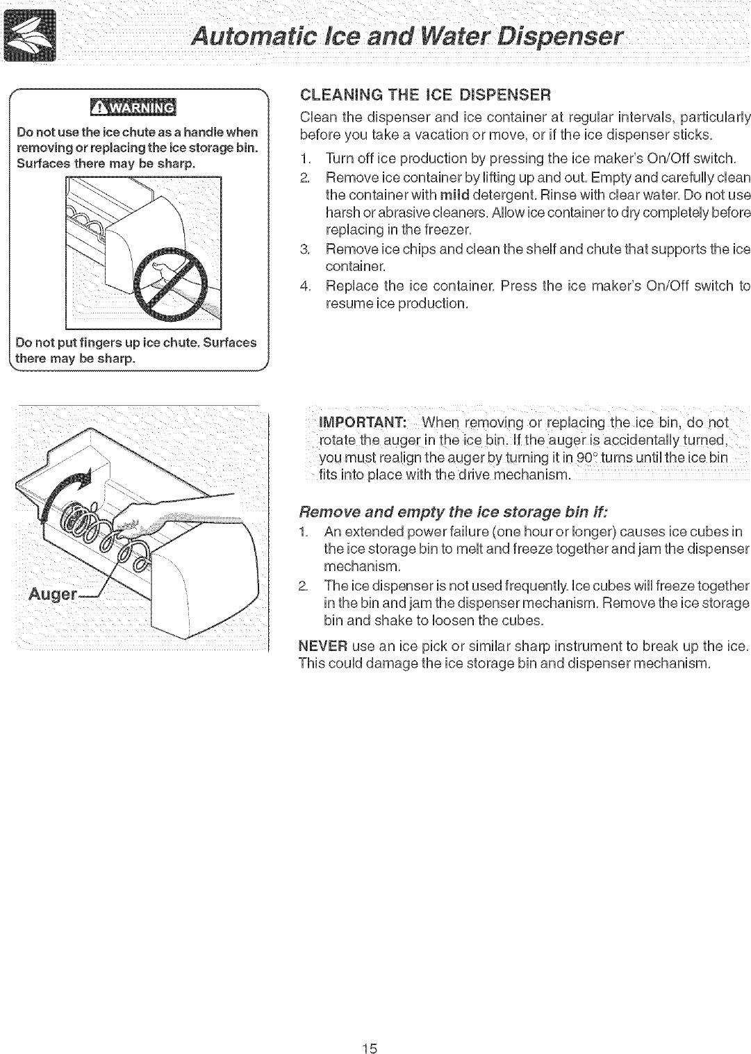 Frigidaire FLSC238DS5 User Manual REFRIGERATOR Manuals And