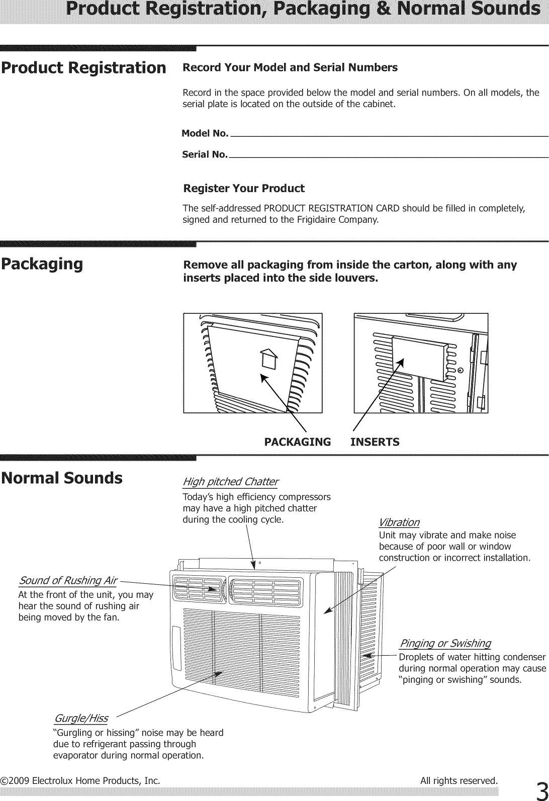 Frigidaire FRA102BT11 User Manual ROOM AIR CONDITIONER