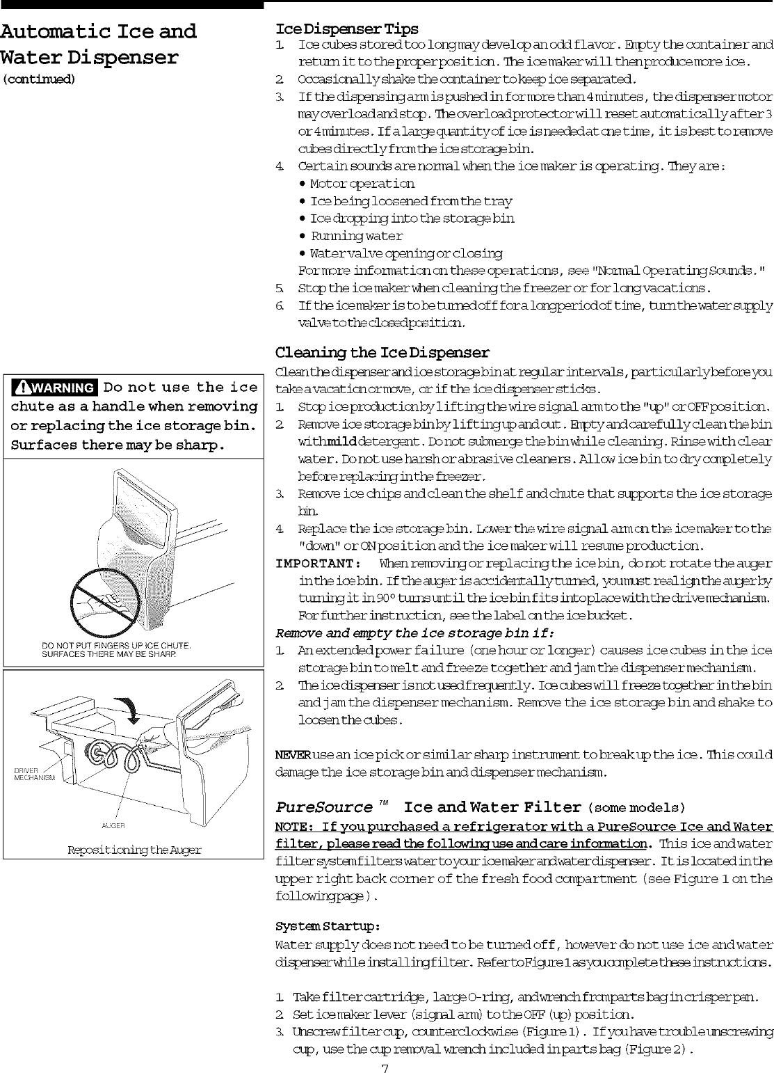 Frigidaire FRS20ZRGB1 User Manual SIDE BY REFRIGERATOR
