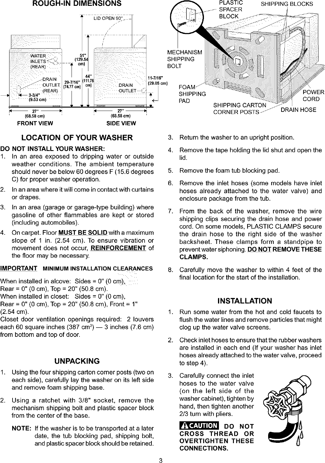 Frigidaire Fws445rfs4 User Manual Washer Manuals And Guides L0304057 Schematic Page 3 Of 4