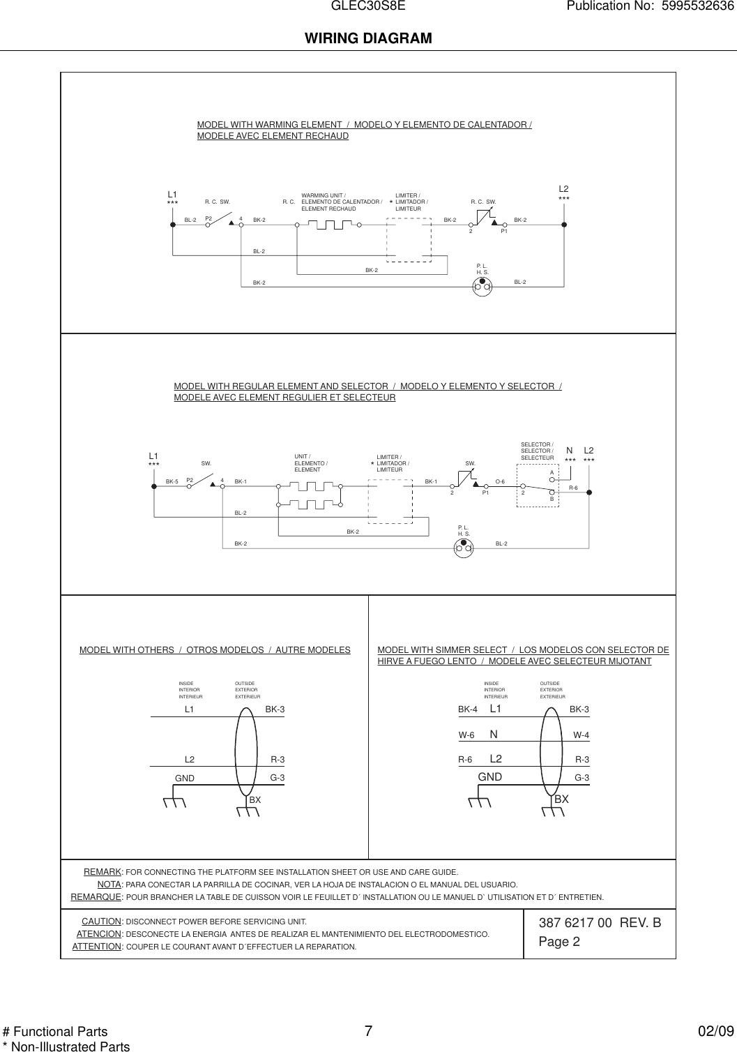 Frigidaire Ffec3024lb Wiring Diagram 5995532636 Page 2 Of