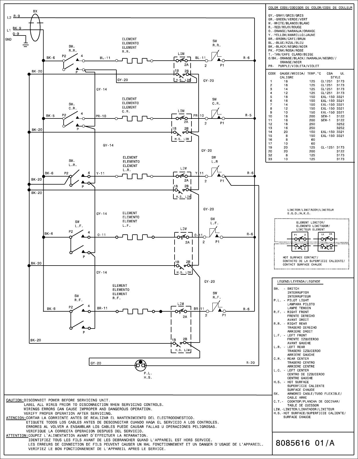 Frigidaire Ffec3624pb Wiring Diagram 808561601 Schematics