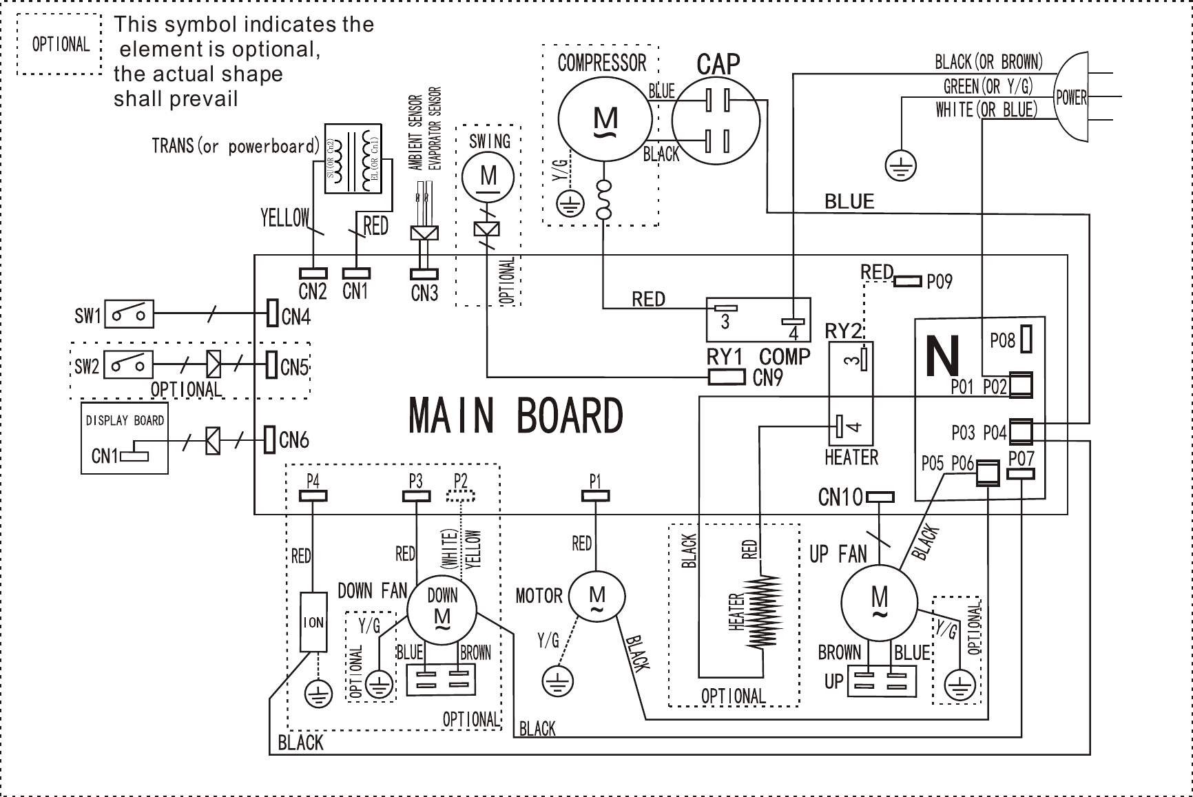 frigidaire fra053pu1 wiring diagram us kc15y1$n1 s(h9h) d 06 mp 1 Whirlpool Wiring Schematics
