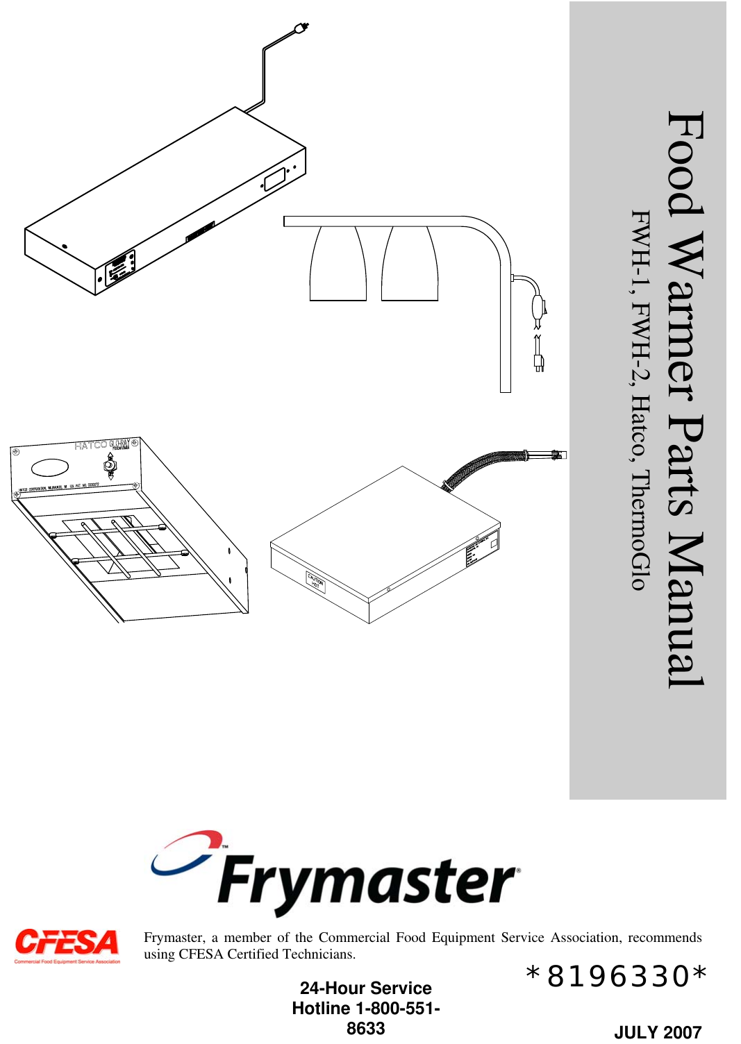 Frymaster Fwh 1 Users Manual Heat Lamp Cover Wiring Diagram