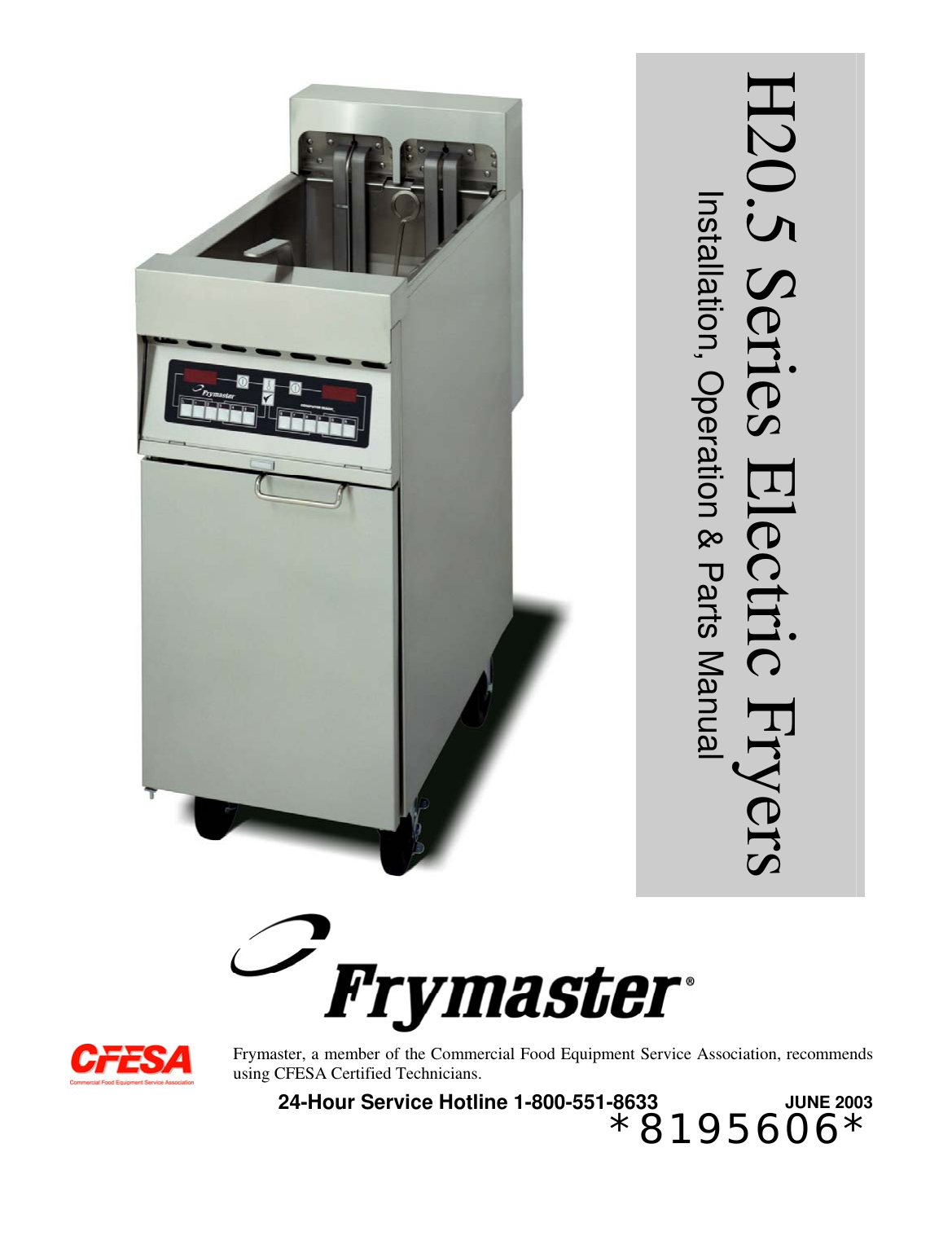 Frymaster H20 5 Series Users Manual 819 5606 Front Cover Dec 04 Wiring Diagram