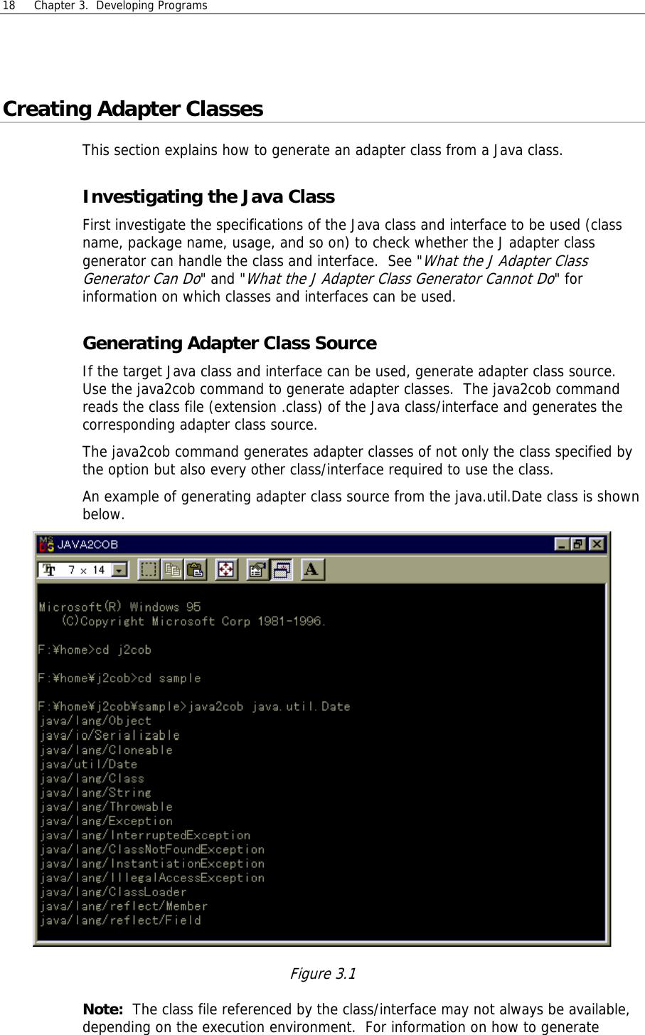 Fujitsu J Adapter Class Generator Users Manual NetCOBOL For