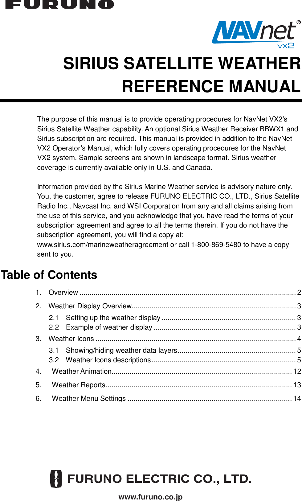 Furuno 1834C Nt Operators Manual