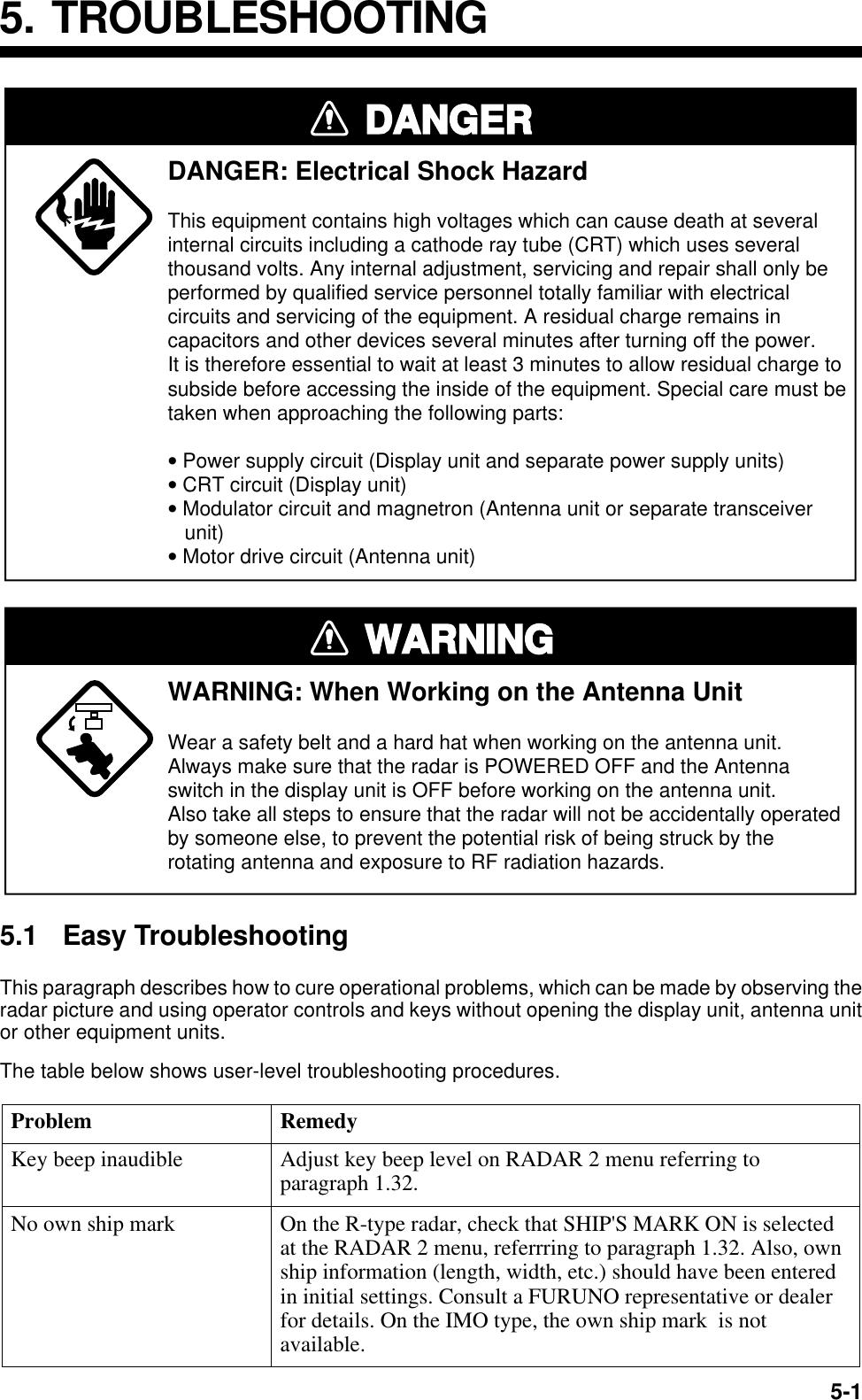 Furuno Far 2805 Series Users Manual Radar (OM) CRT
