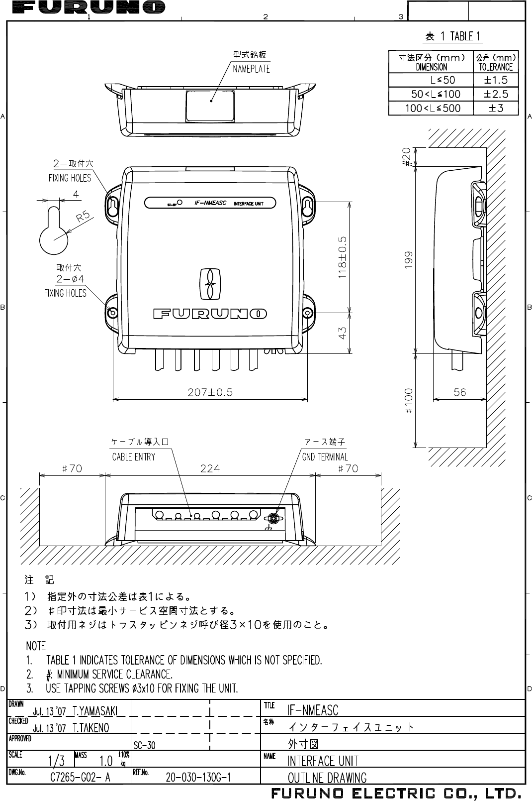 Furuno If Nmeasc Operators Manual Cover Audio Video Receivers Hook Up And Installation Diagramcables Used Jul2307 Resumi