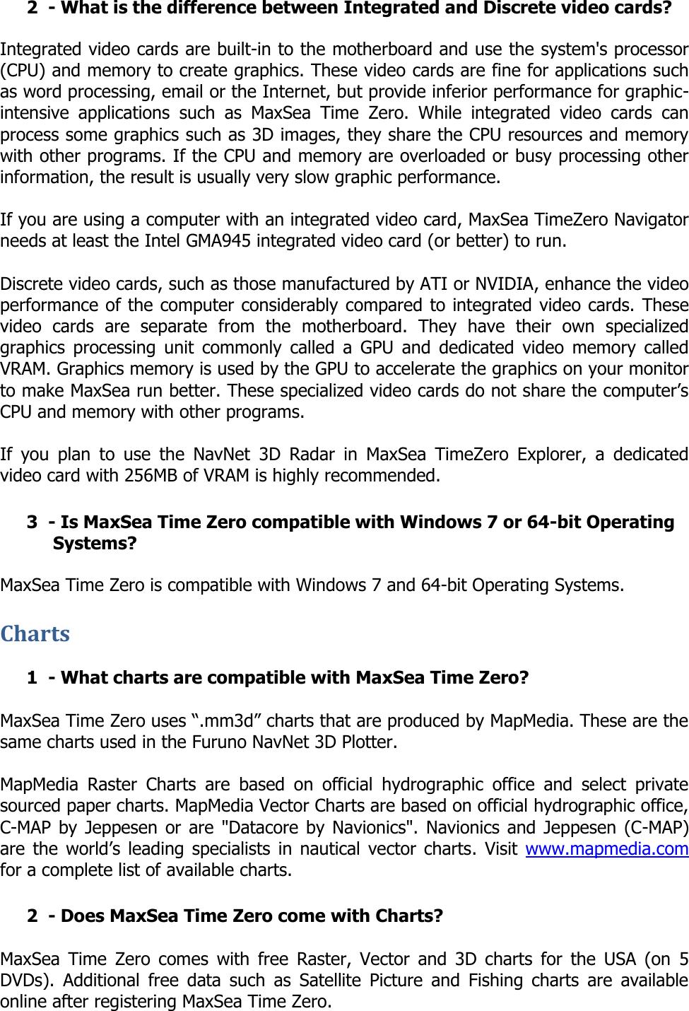 Furuno Tz Explorer Users Manual MaxSea TimeZero FAQ