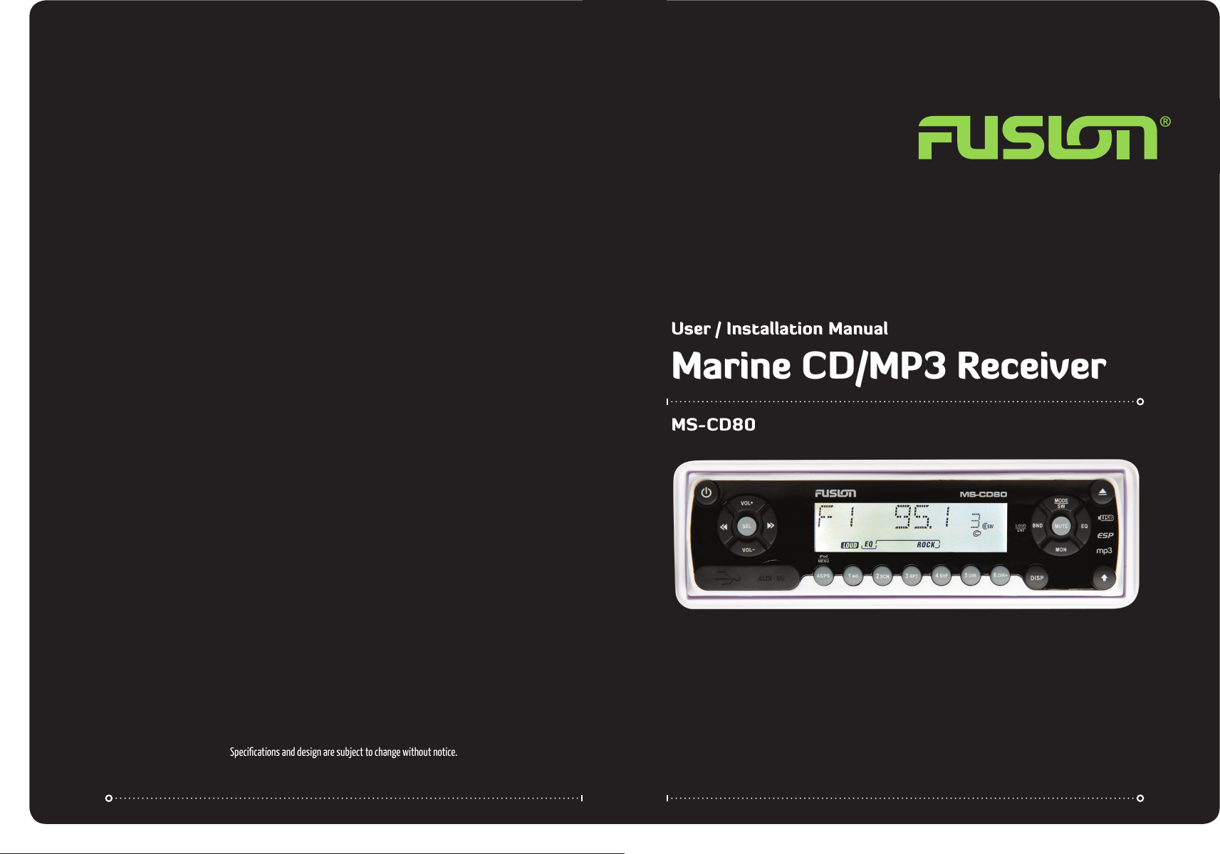 fusion electronics car stereo system ms cd80 users manual v1 4 rh usermanual wiki Ford Fusion Coupe Jaguar Cars