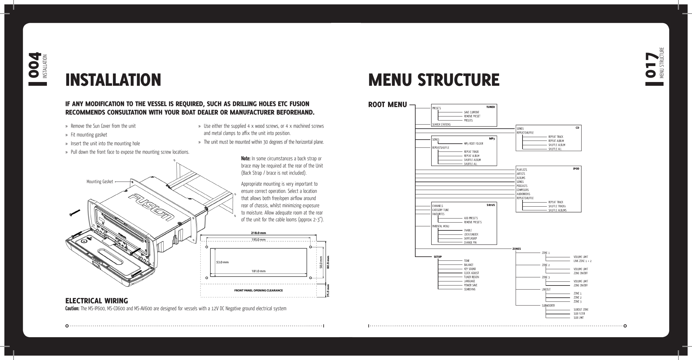 Fusion Electronics Marine Gps System Ms Av600 Users Manual 7474 Pin Diagram Page 6 Of 12