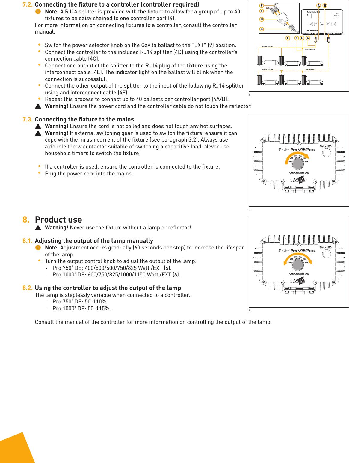 GAVITA HOLLAND 1860X41421 Digital Ballast User Manual