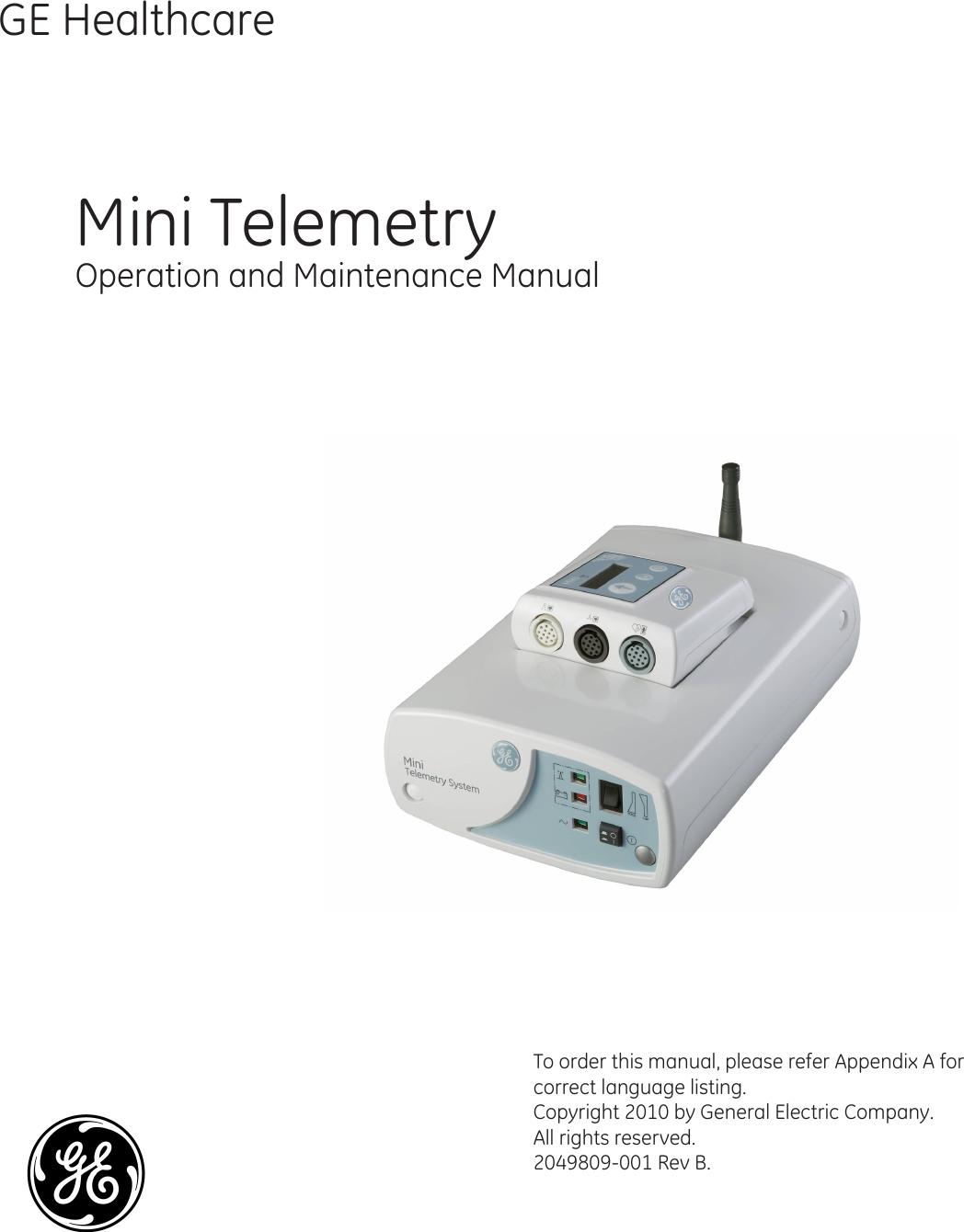 ge healthcare minitel2010 mini telemetry system tx user manual rh usermanual wiki General Electric Products Catalogue General Electric Product Registration