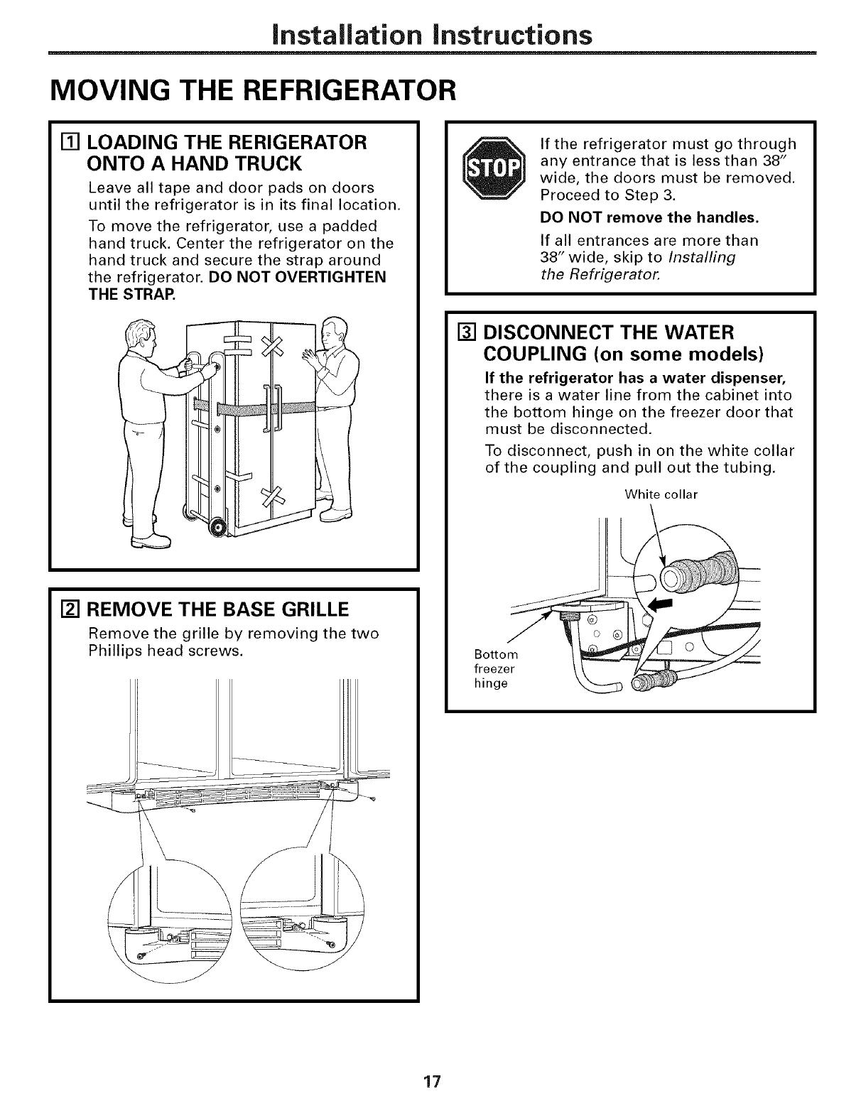 Ge Dsf25kgtabg User Manual Refrigerator T Series Manuals And Guides Dc Reversing Relay Wiring Diagram Hecho L0604560