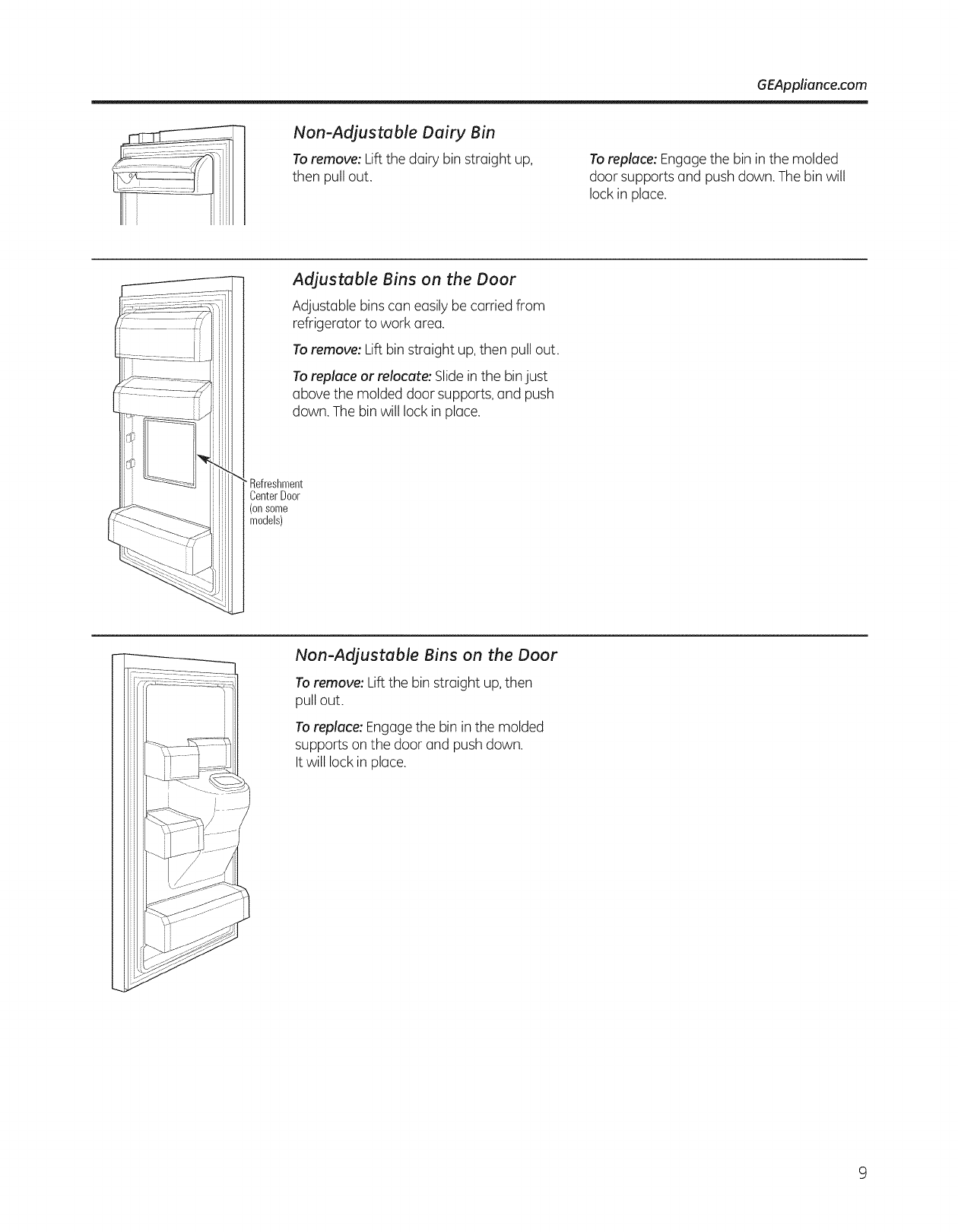 Ge Gfsf6pkbabb User Manual Bottom Mount Refrigerator Manuals And Fuse Box Pull Outs Geappliancecom