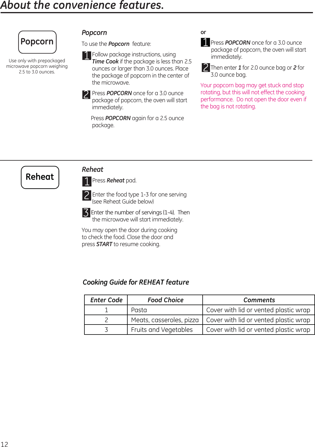 GE JEM3072DH1BB 49 40733_HiRes User Manual MICROWAVE Manuals And