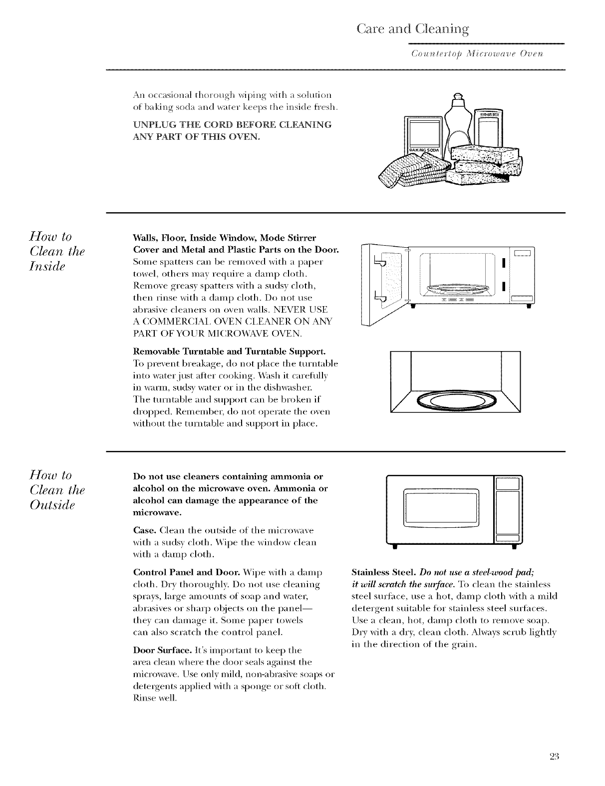 Ge Countertop Microwave Manual L0406346 Besides Monogram Oven On Parts Diagram Are And Cleaning